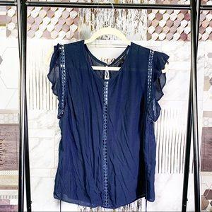 Dolce Vita Navy Blue Blouse Size Medium
